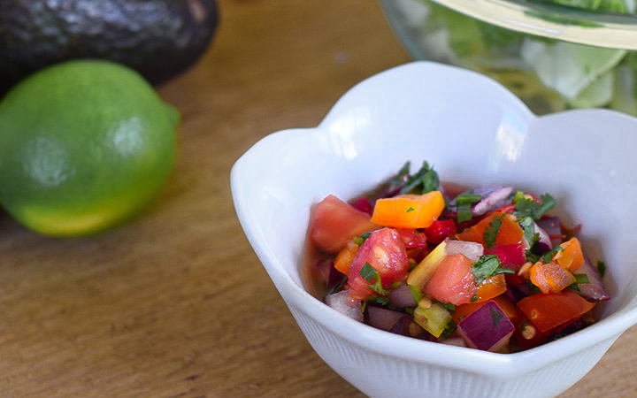 Rainbow Pico de Gallo